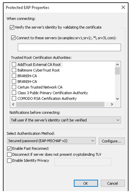 Windows 10 configuration