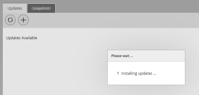 Machine generated alternative text: updates updates Available Please wait Installing updates